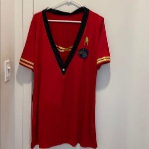 Big tab/dress in red, 3X
